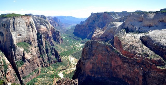 View of Zion Canyon in Zion National Park